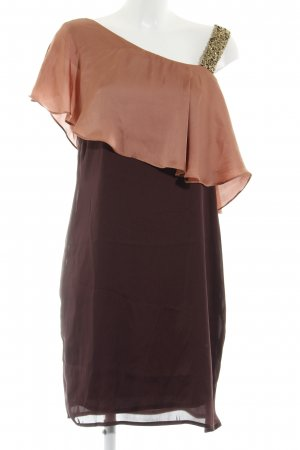 Soaked in luxury Abendkleid dunkelbraun-cognac Elegant