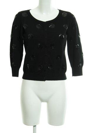 Soaked in luxury Cardigan schwarz Punktemuster Business-Look