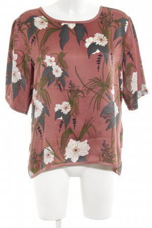 Soaked in luxury Kimono Blouse red-green allover print casual look