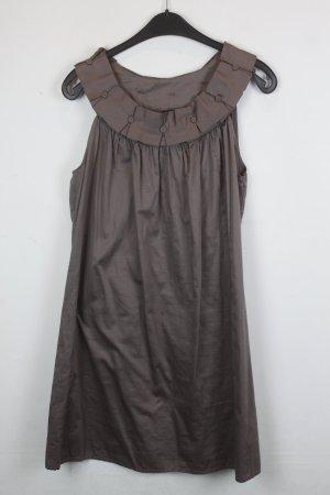 Soaked in Luxury Kleid Trägerkleid Blusenkleid Gr. M braun (18/5/323)