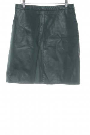 Soaked in luxury Leather Skirt cadet blue extravagant style