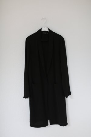Soaked In Luxury Mantel aus Seide Blazer schwarz Gr. M