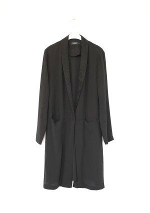 Soaked In Luxury Mantel aus Seide Blazer schwarz Gr. M Vintage Look