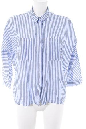 Soaked in luxury Oversized Bluse blau-weiß Streifenmuster klassischer Stil