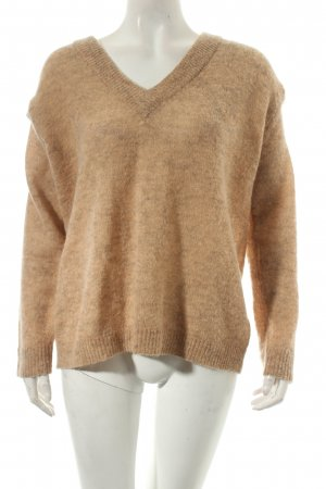 Soaked in luxury Oversized Pullover beige meliert Transparenz-Optik