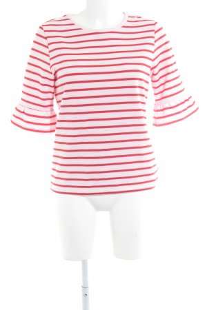 Soaked in luxury T-Shirt rot-rosa Streifenmuster Casual-Look