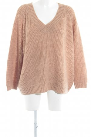 Soaked in luxury V-Ausschnitt-Pullover apricot Casual-Look