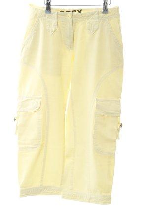 Soccx 3/4-broek lichtgeel casual uitstraling