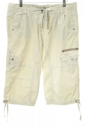 Soccx Pantalon 3/4 jaune clair style décontracté