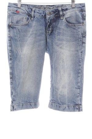 Soccx Jeans 3/4 bleu azur Aspect de jeans