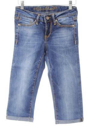 Soccx 3/4 Jeans stahlblau Casual-Look