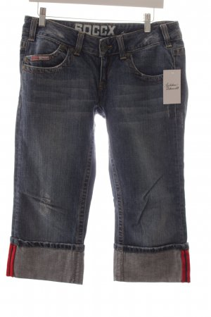 Soccx 7/8 Jeans blau-rot Casual-Look