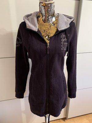 Hooded Coat light grey-dark blue