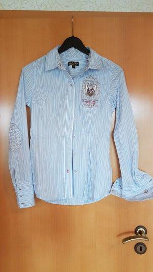 Soccx Black Bluse xs 34 hellblau weiß gestreift