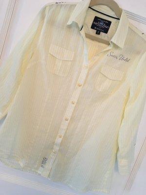 Soccx Bluse gelb / weiß Streifen Gr. 36