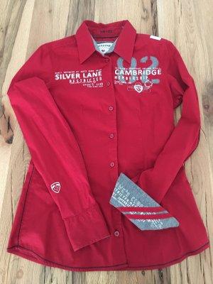 Soccx Bluse Rot Stickerei Strass S 36