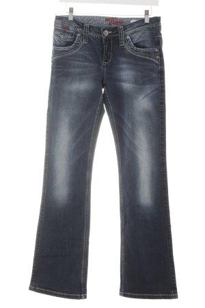 Soccx Boot Cut Jeans dunkelblau Casual-Look