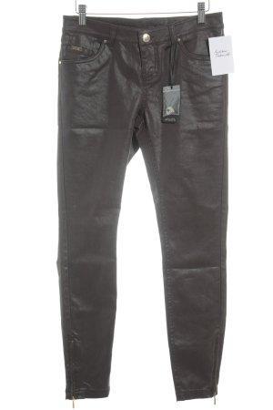 Soccx Pantalon cinq poches brun foncé style décontracté