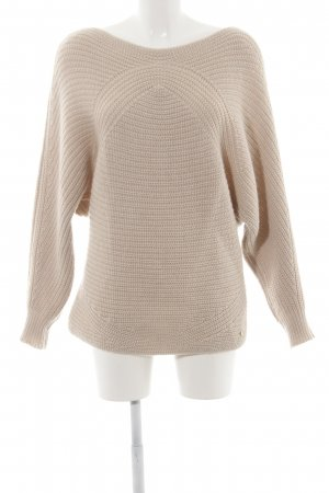 Soccx Grobstrickpullover creme Zopfmuster Casual-Look
