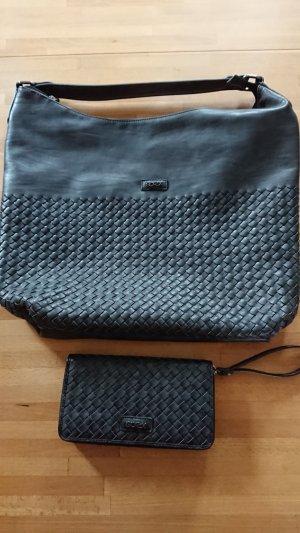 Soccx Handtasche mit Portemonnaie in grau