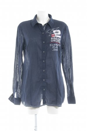 Soccx Hemd-Bluse dunkelblau Casual-Look