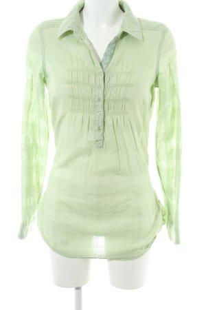 Soccx Hemd-Bluse grasgrün Glencheckmuster schlichter Stil