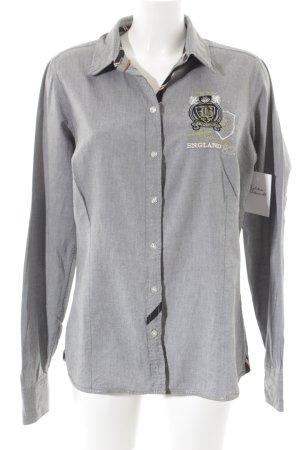 Soccx Hemd-Bluse grau abstraktes Muster Casual-Look