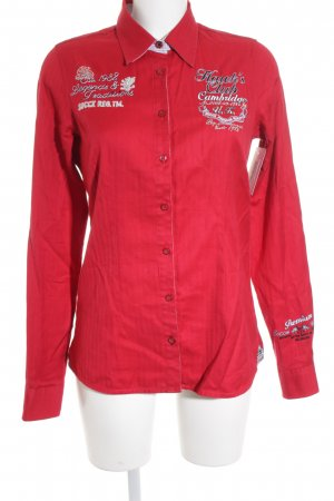 Soccx Hemd-Bluse rot grafisches Muster Casual-Look