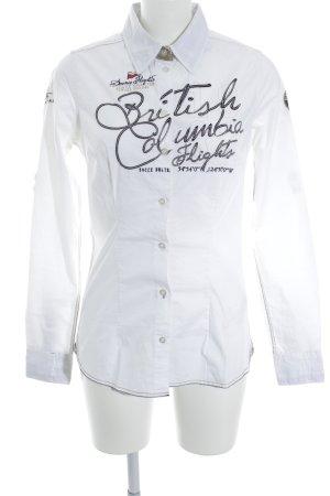 Soccx Hemd-Bluse Schriftzug gestickt Casual-Look