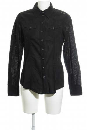 Soccx Hemd-Bluse schwarz Casual-Look