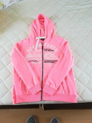 Soccx Hoodie Jacke in neon pink