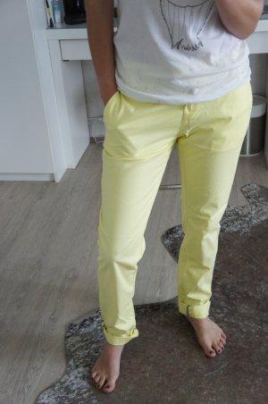 Soccx Pantalon boyfriend jaune