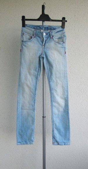 Soccx Jeans elasticizzati azzurro Tessuto misto