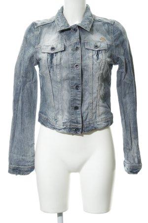 Soccx Jeansjacke graublau-blassblau Casual-Look