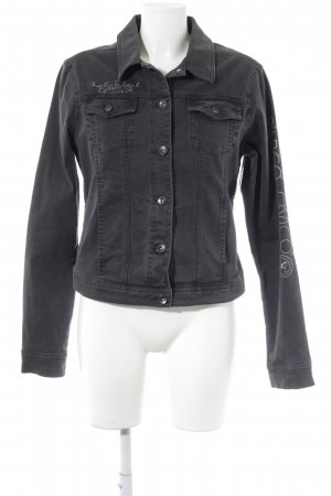 Soccx Denim Jacket black casual look