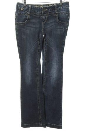 Soccx Jeansschlaghose blau Casual-Look