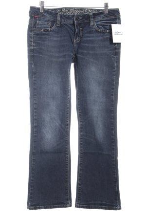 Soccx Jeansschlaghose dunkelblau Used-Optik