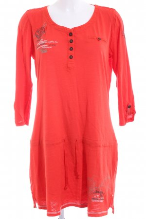 Soccx Jersey Dress red printed lettering casual look
