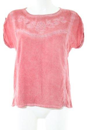 Soccx Kurzarm-Bluse pink Casual-Look