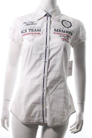 Soccx Kurzarm-Bluse Mustermix sportlicher Stil