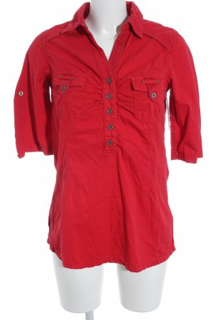 Soccx Kurzarm-Bluse rot Casual-Look