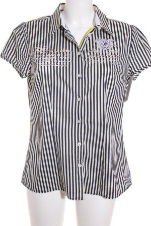 Soccx Kurzarm-Bluse Streifenmuster klassischer Stil