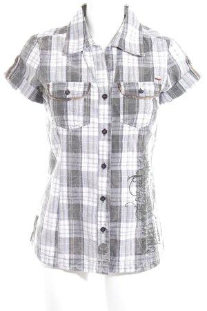 Soccx Shirt met korte mouwen geruite print casual uitstraling
