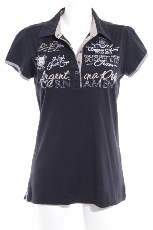 Soccx Kurzarmhemd schwarz Schriftzug gestickt Casual-Look