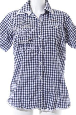 Soccx Kurzarmhemd weiß-dunkelblau Karomuster Casual-Look