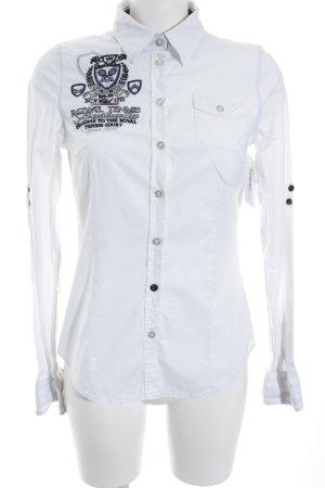 Soccx Langarm-Bluse weiß-schwarz Business-Look