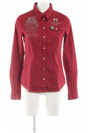 Soccx Langarmhemd rot schlichter Stil