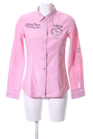 Soccx Camisa de manga larga rosa look casual