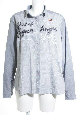 Soccx Langarmhemd weiß-dunkelblau Casual-Look