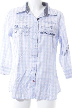 Soccx Langarmhemd weiß-himmelblau Karomuster Casual-Look